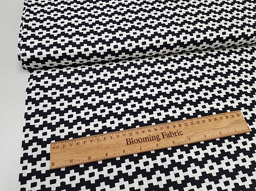 Geometric cotton fabric, Etched Pathways 100% cotton print, Quality