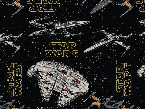 Star Wars Millennium Falcon Rebel ships fabric 100% cotton