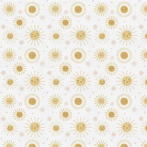 Sun fabric, Sunshine fabric, Summer cotton fabric, 100% woven cotton