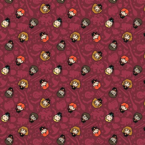 Harry Potter fabric, Character Fabric, Kawaii Fabric, fabric small print
