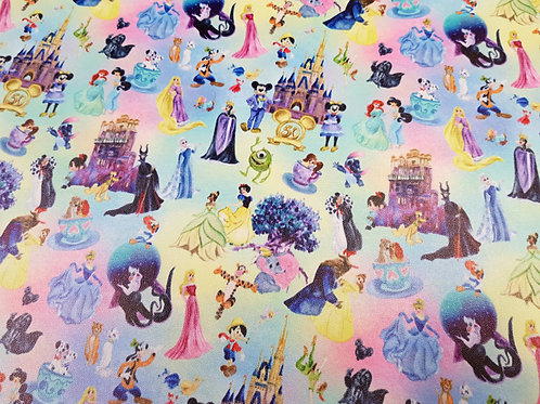 Vinyl material,  Castle celebration fabric, PVC, bag making