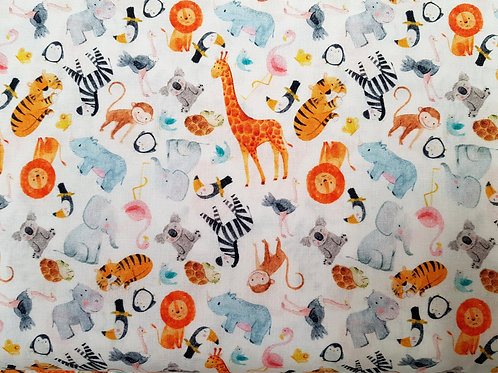Jungle animal fabric, Nursery fabric craft and clothing, quilting fabric