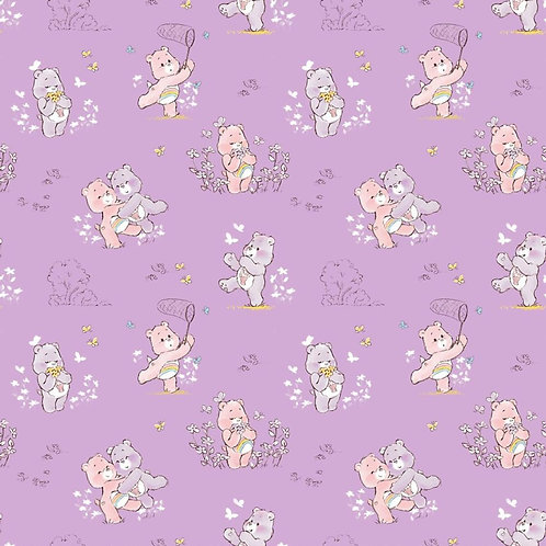 Cheer Bear, Share Bear Bear Nursery purple fabric