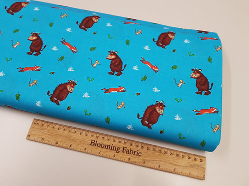 Gruffalo Fabric, Animal fabric, 100% cotton (Fabric has small white specks)