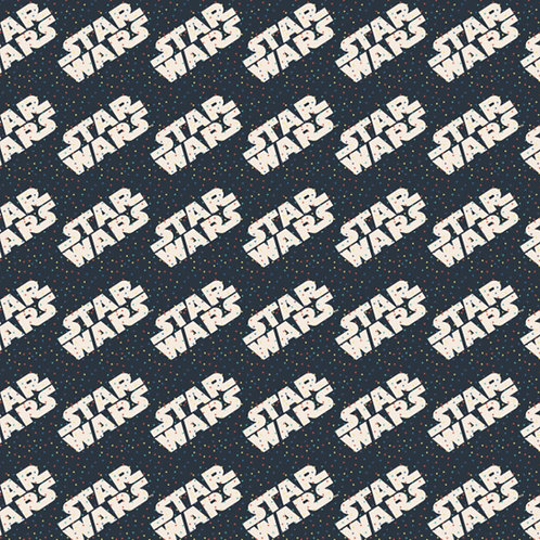 Star Wars fabric, Retro rainbow dots letters fabric 100% cotton