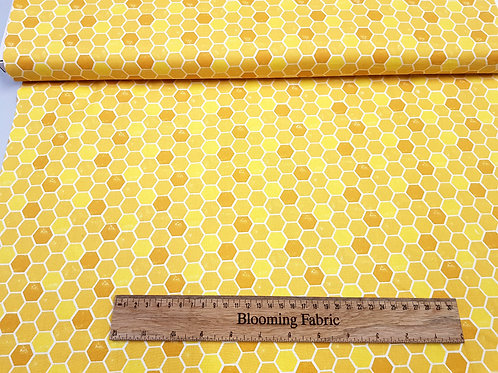 Gold Honeycomb fabric, (bee collection)