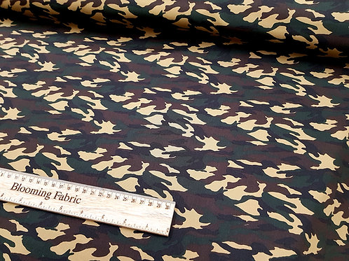 Camouflage fabric, woodland fabric, Army fabric, craft and clothing, quilting
