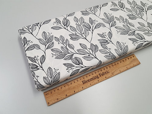 Laurel leaves fabric, plant fabric