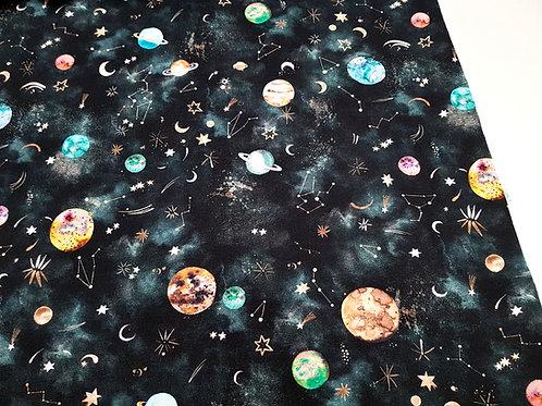 Space Cotton Jersey/ Knit Printed jersey Organic Soft Cotton