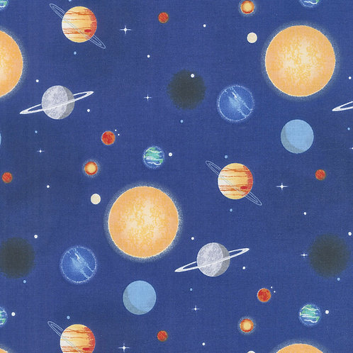 Space fabric, Planets Blue fabric, Out of this World with NASA, Riley Blake