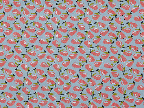 Pear Loopback Jersey, Sweatshirt fabric, funky knit fabric fruit fabric