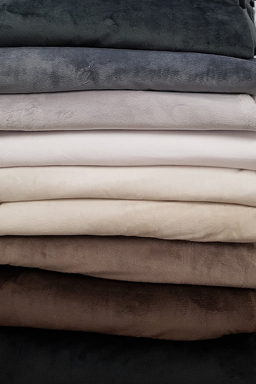 Smooth Cuddle Minky fabric Cuddle Soft Fleece Fabric Minky Solid Plain Fabric