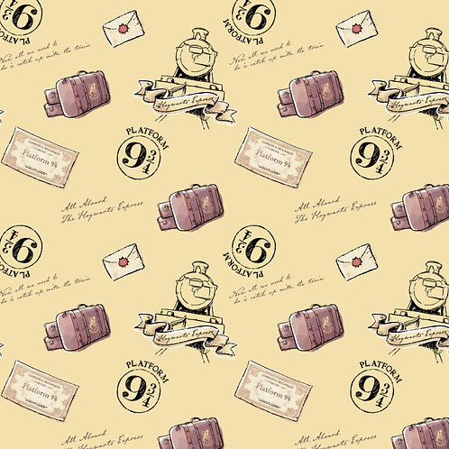 Harry Potter fabric, platform 9 3/4 100% Cotton Fabric