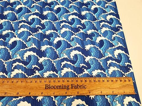 Sea fabric, Beach fabric, water fabric, waves 100% cotton woven