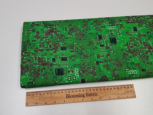Science fabric, computer fabric, Green circuit board fabric