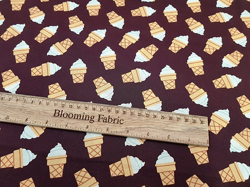 Ice Cream Cone fabric, Classic ice cream fabric