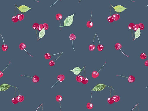 Fruits fabric, cherry cotton fabric , 100% cotton print, craft and clothing