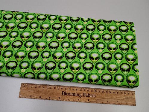 Alien fabric, Area 51 fabric, Alien Heads fabric, Acid Lime
