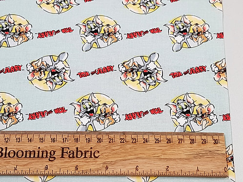 Tom & Jerry Fabric, Best Foes Forever Fabric, Warner Brothers Fabric
