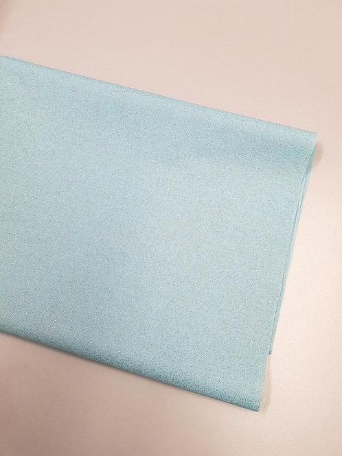Light blue Glitter fabric Sparkle Crystal cotton fabric Metallic craft fabric