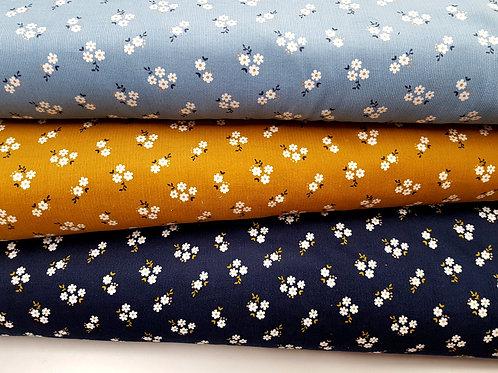 Cotton Corduroy, Floral gold glitter Needlecord, babycord Dress Fabric