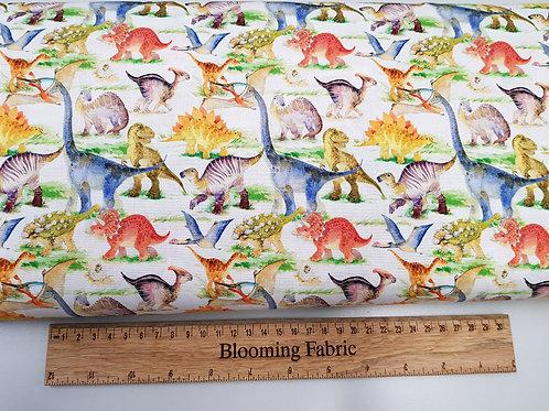 Dinosaurs Fabric, Jurassic fabric, cotton fabric