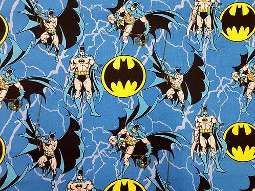 Batman logo fabric, Superhero fabric, 100% cotton print