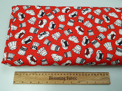 Chef Hat Cook & Baker Hats fabric print 100% cotton