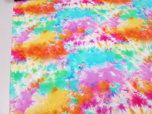 Bright Tie dye fabric, Jerseys fabric, knit fabric