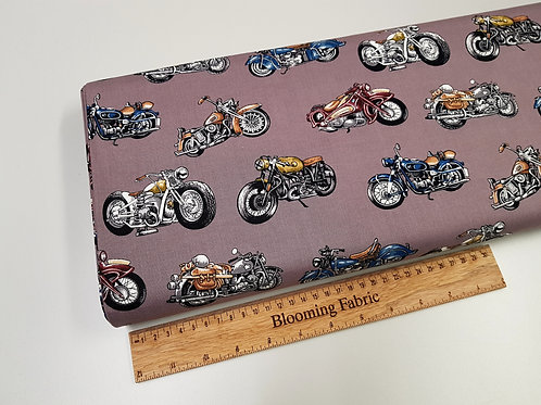 Motorbike fabric, Motorcycles fabric, Bike fabric, 100% woven cotton