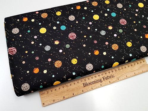 Space fabric, galaxy cotton fabric, cosmos fabric, planet fabric