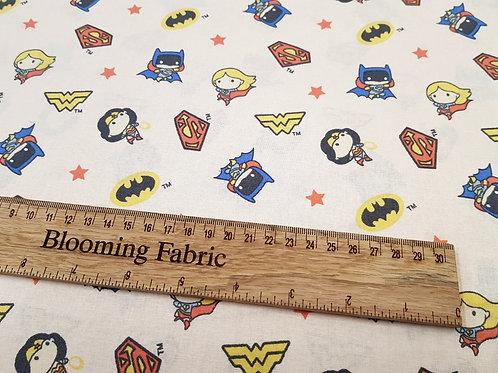 Marvel Comics Cotton Fabric, Wonder Woman 100% Cotton, light pink/peach
