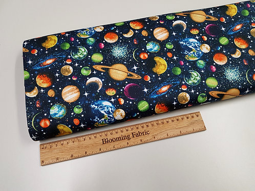 Space fabric, galaxy cotton fabric, glitter cosmos fabric 100% cotton woven
