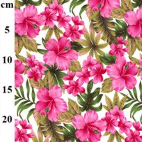 Hawaiian fabric Pink flowers tropical cotton retro Hawaii cotton 100% co