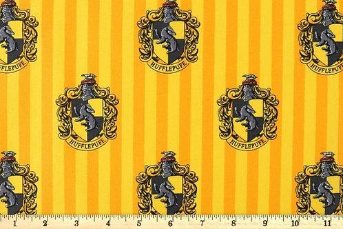 Hufflepuff House Crest Fabric, Harry Potter fabric print, 100% Cotton Fabric