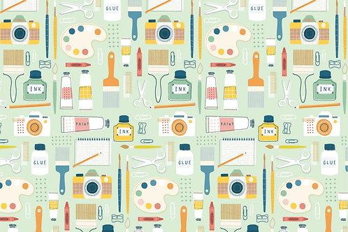 Art fabric, painting fabric, hobby fabric, 100% cotton woven