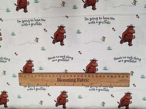 Gruffalo Fabric, Animals fabric, Tea with Gruffalo, 100% cotton