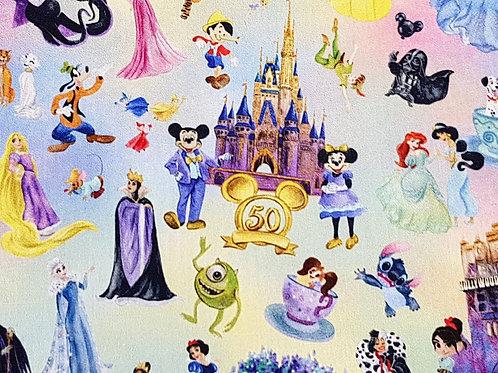 Castle celebration fabric, 100% Cotton woven