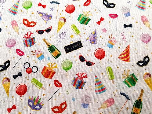 Celebration fabric, party fabric, Desserts Cotton fabric