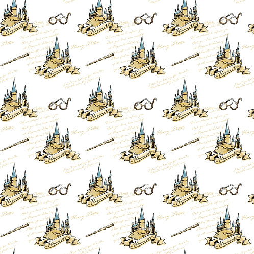 Harry Potter fabric, Hogwarts 100% Cotton Fabric quilting
