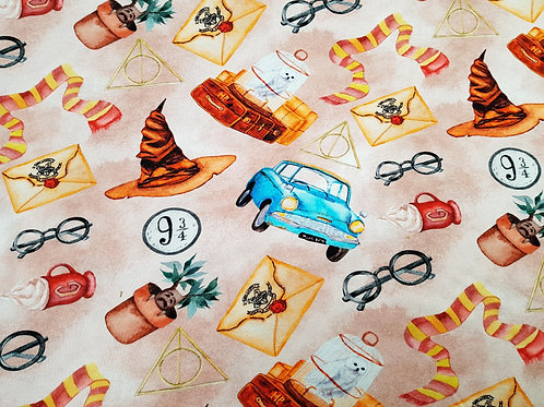 Magical power, wizard fabric, Cotton Jersey, Cotton knit fabric stretchy fabric