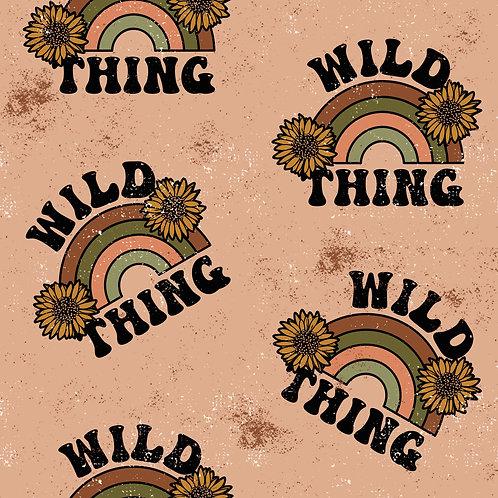 Wild thing fabric, sunflower knit Fabric, Cotton knit fabric, 80s, 90s fabric