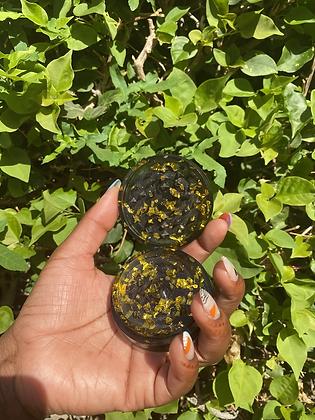 Black glittered spice grinder