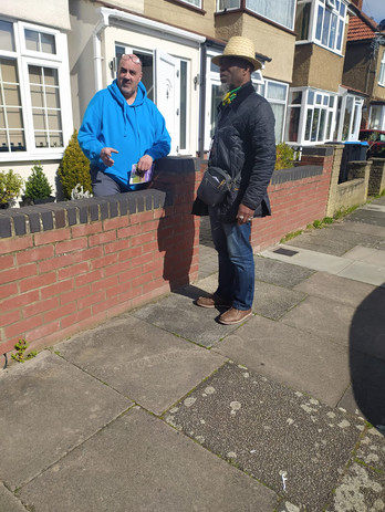 Leafleting with Clive Morrison