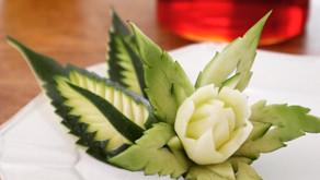 ズッキーニでお花と葉
