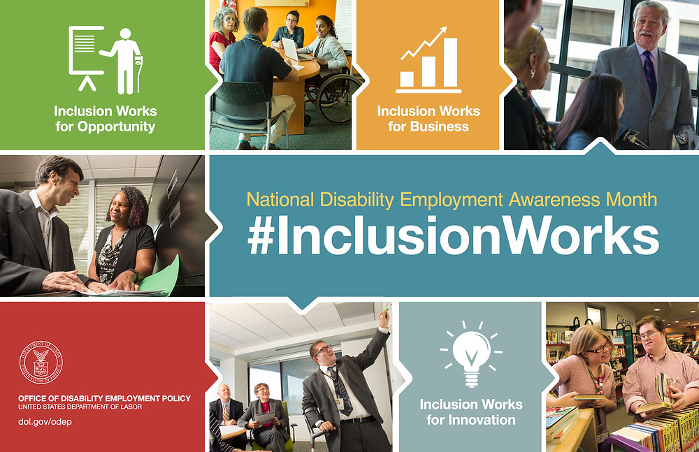 NDEAM poster for #InclusionWorks