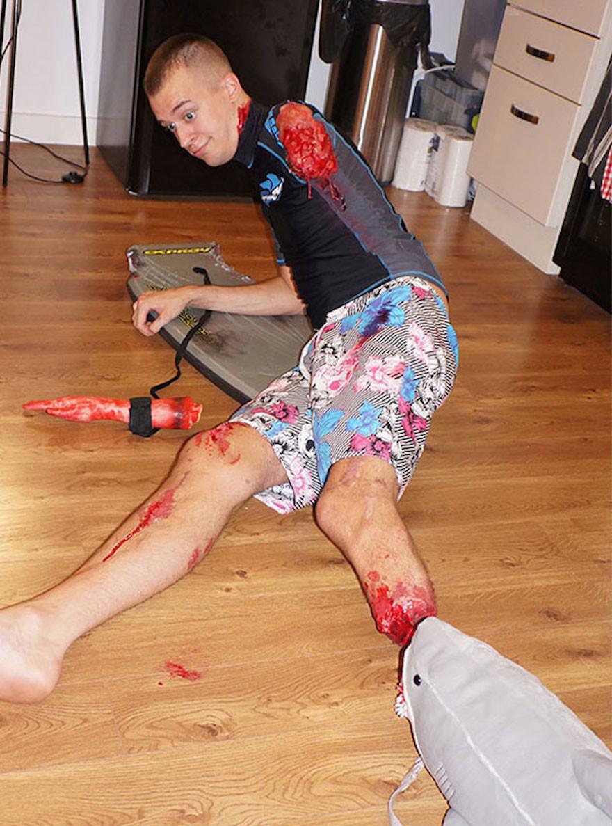 Shark Attack Amputee Costume