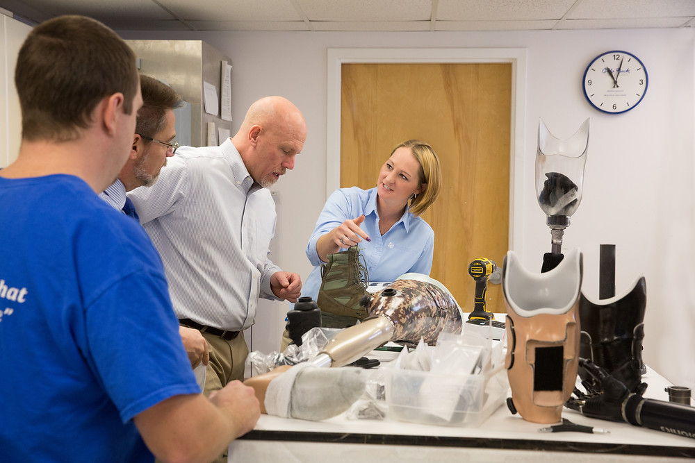 Our lab is where our custom precision prostheses are designed and built.