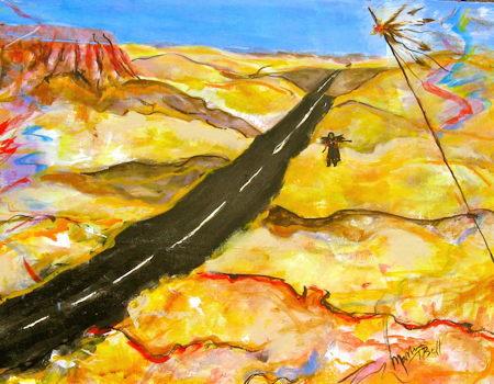 S Dakota,The Staked Land   acrylic