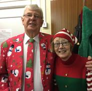 Alan & Joan in the Christmas Spirit